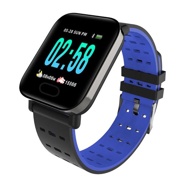 Impermeabile Fitness Tracker Smart Watch Cinturino in silicone Orologio Sport Pedometro Monitoraggio del sonno Cardiofrequenzimetro Smartwatch per IOS Android