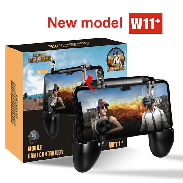 W11 + PUGB Мобильный игровой контроллер Free Fire Trigger Мобильный джойстик Геймпад Металл L1 R1 Кнопка для iPhone Gaming Pad Android