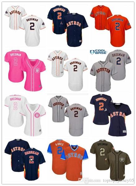new style c3437 5c324 2019 2018 Top Houston Jerseys Astros #2 Alex Bregman Jerseys  Men#WOMEN#YOUTH#Men'S Baseball Jersey Majestic Stitched Professional  Sportswear From ...