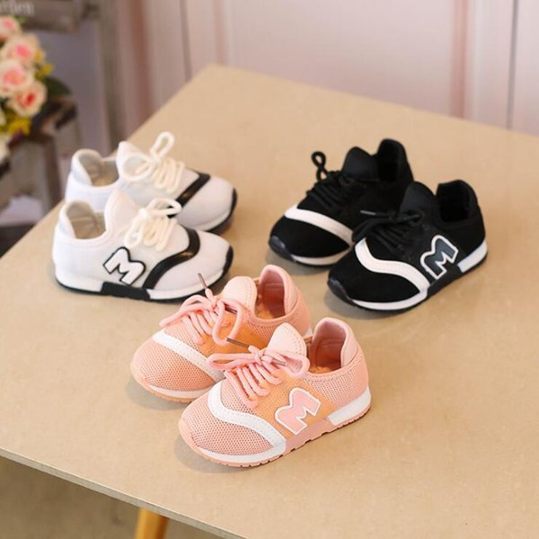 Children Running Shoes Spring Autumn Girls And Boys Sport Shoes Antislip Soft Bottom Kids Shoes Comfortable Breathable Sneakers