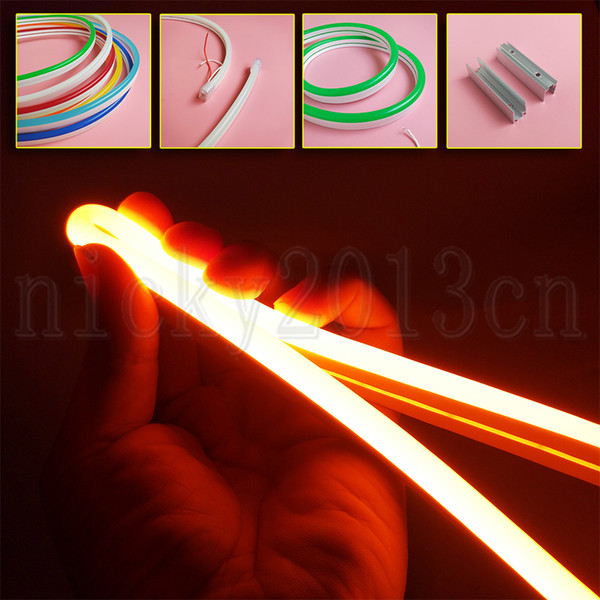 best selling Super Bright 12V 2835 LED Flexible Neon Tube Strip Light Rope Silica Gel 8mm * 16mm IP67 Waterproof Outdoor for Club Front Window Sign