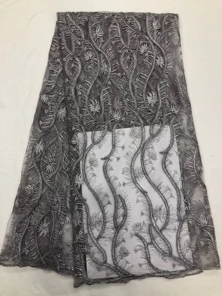WST1008 2019 hot sale French net lace fabric 5 yards/set,wholesale price African material for making beautiful party dress!