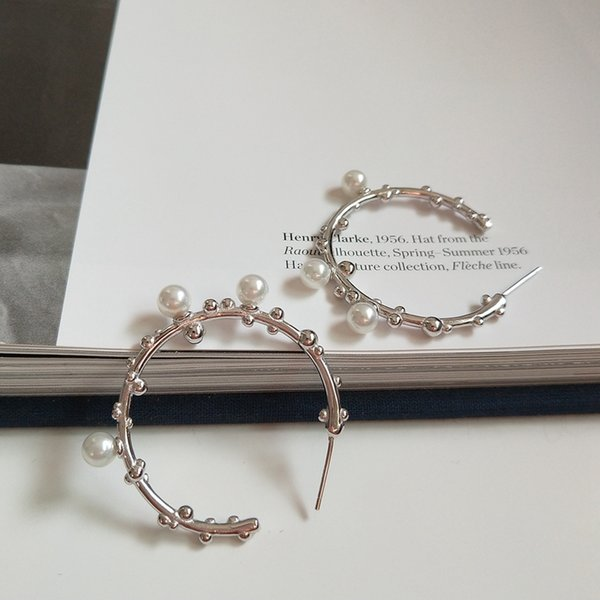 925 sterling silver tree branch pearl hoop earrings minimalist design fashion earrings for women personalit charms jewelry gift