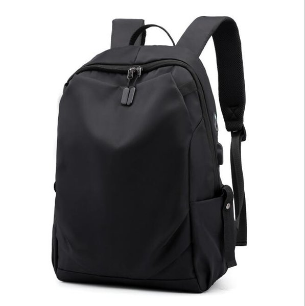 2019 summer computer backpack solid color simple student bag fashion business leisure travel backpack free shipping