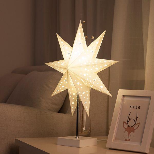 Простой современный спальня прикроватная ночник творческий романтический оригами вертушка Звезда украшения стол ночник для подарка на День Рождения - R20