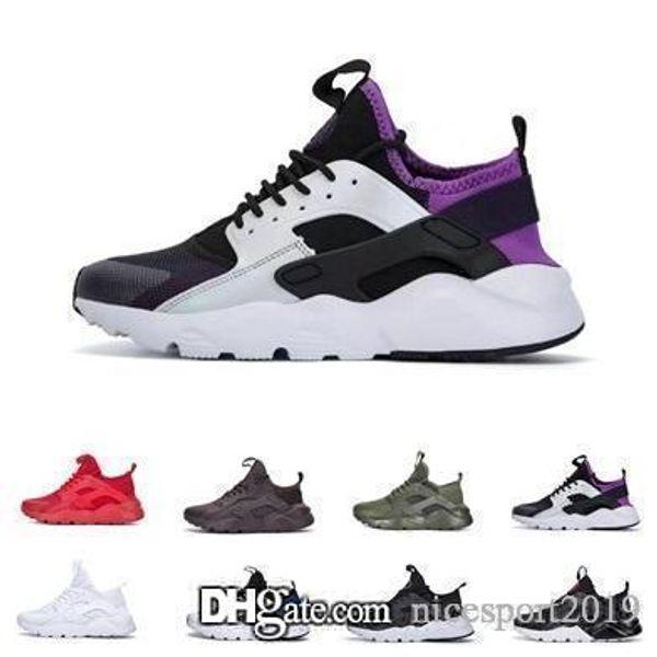 2019 Moins cher Nouvel air Huarache 4.0 1.0 Chaussures Pour Hommes Femmes Noir Blanc Gris Haute Qualité Huaraches Hommes Chaussures De Designer 36-45