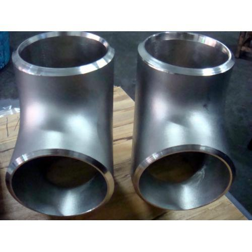 Ti alloy R56400/GR.5 and R56320/GR.9 EQT titanium tee tube connector butt weld pipe fitting