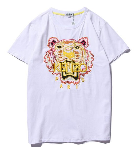 The embroidery T Shirts for Men Women 2019 Summer Casual Couple Mens Clothing Loose Fashion Tide Letter Print Short Sleeve Tees