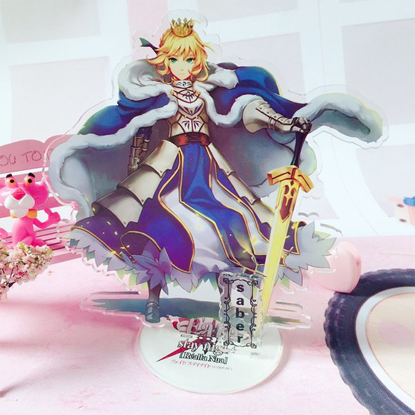 oys Hobbies Action Toy Figures Fate Grand Order FGO Saber Altria Pendragon Jeanne Acrylic Stand Figure Desktop Decor Collection Model Toy...