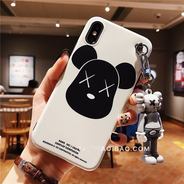 Mytoto Fashion Hot Japan brand 3D Kaws Keychain cute Cartoon Silicone lanyard phone case for iphone X XR XS Max 7 8 plus 6S cover