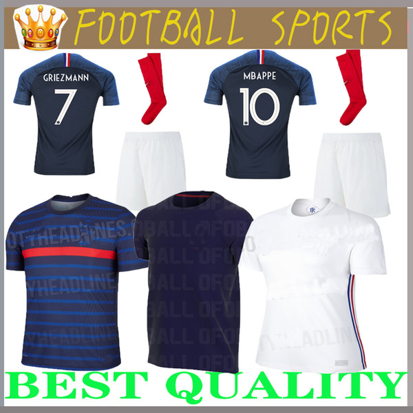 best selling Adult suit Maillot 2018 cheap football Adult suit 2 stars two etoiles Equipe de france uniform french kits Jerseys+pant+socks