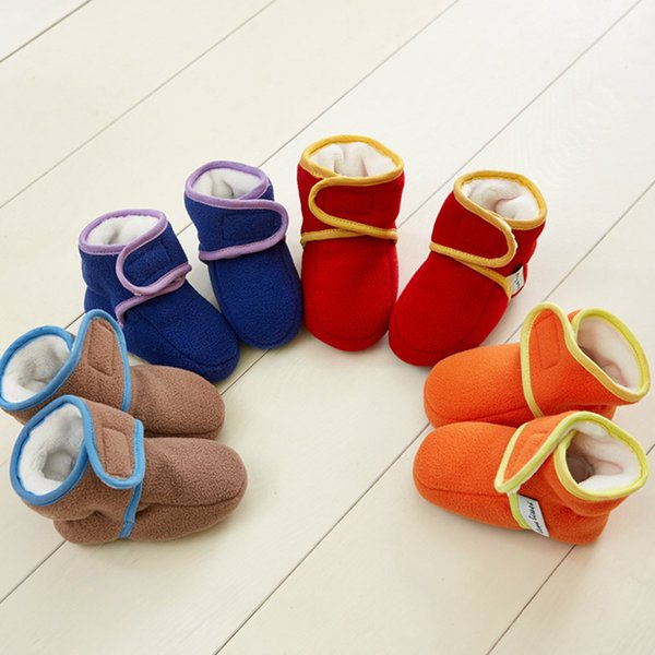 1 Pair Baby Boys Girls Warm Boots Infant Learning Walking Shoes for Autumn Winter M09