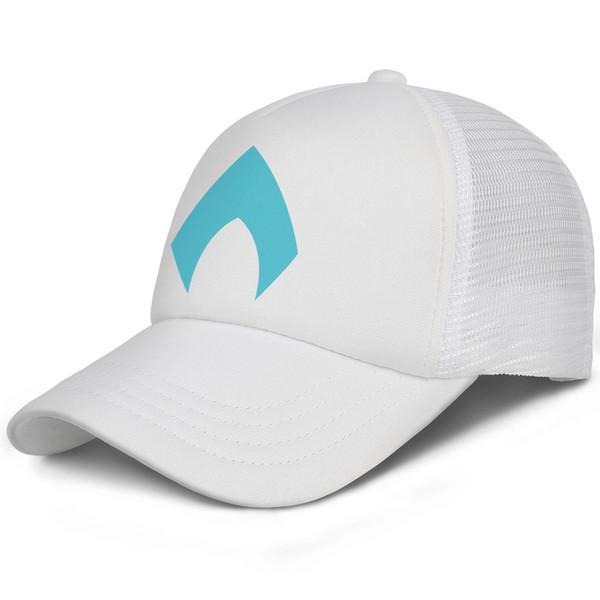 Aquaman Vector logo blue DC kids baseball caps Curved Teen baseball cap Stretch white cap cute baseball caps hats