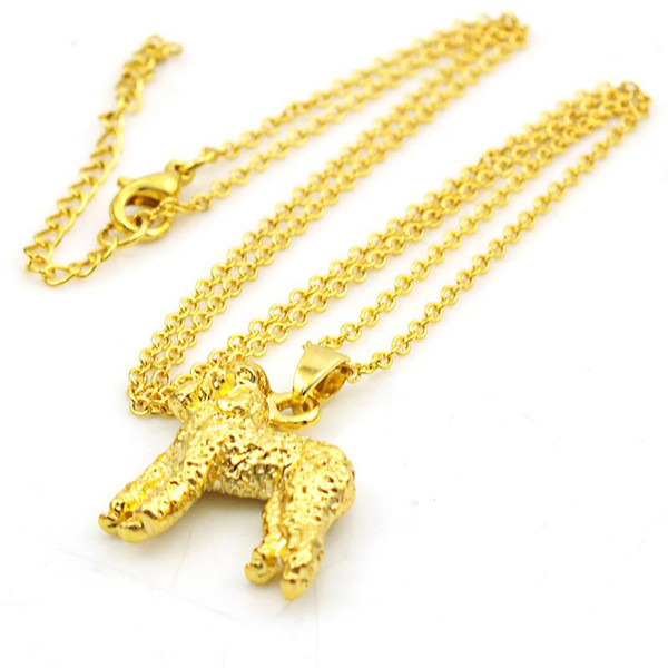 Fashion Dog Charm Vintage lady Animal Necklaces&Pendants Design simple Wedding Party of Korea Jewelry Gift for Girls