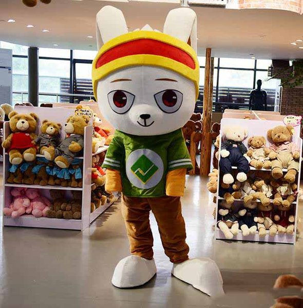 Factory Outlets Super Lovely Rabbit Cartoon Mascot Costume Supermarket Promotion Suit Halloween Party Fancy Dress Free Shipping