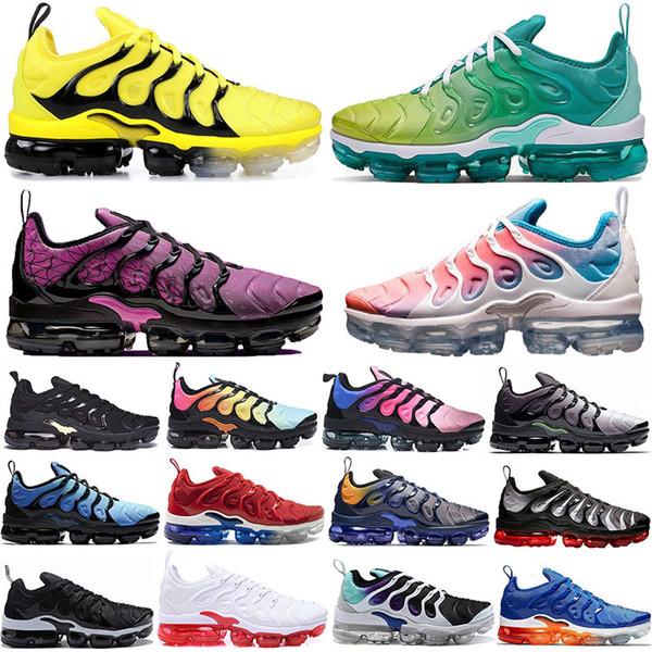 TN Plus Bumblebee Coucher De Soleil Vert TN Plus Chaussures De Course Pour Hommes femmes Rainbow GRAPE Bright Crimson Fades Hyper Volt Hommes Baskets Sneaker