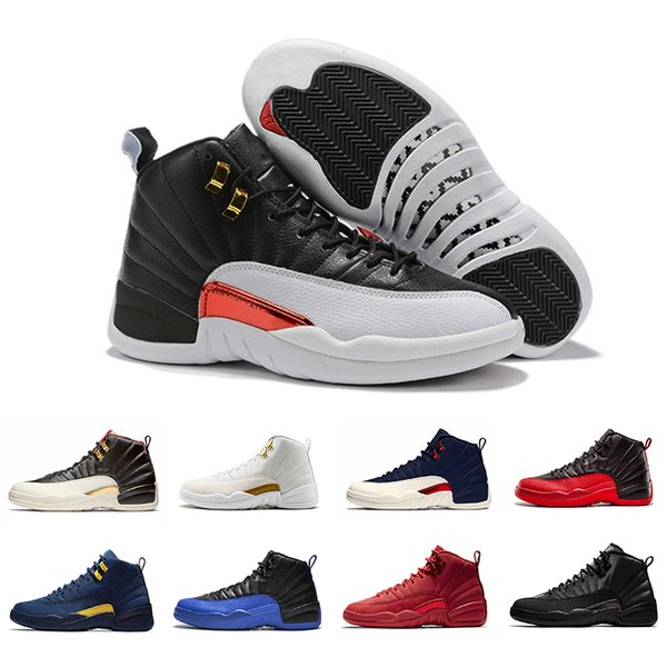 2019 Winterize 12 Gym Red 12s men basketball shoes Michigan WINGS bulls Flu Game the master black white taxi mens Sports trainer sneakers