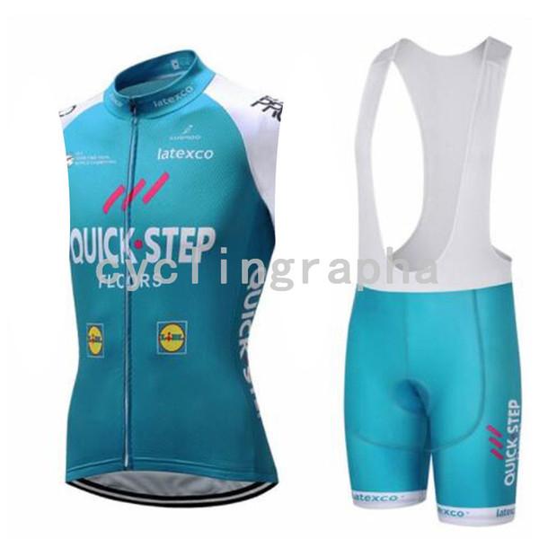 HIZLI ADIM Yaz bisiklet jersey kolsuz Jersey Önlüğü şort pantolon Jel pad açık spor bisikleti binmek bez suit