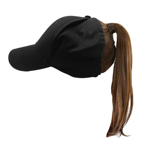ETOSELL femmes chapeaux de soleil de plage en coton Ponytail Caps 7 CM Ombrelle Casual Chapeau de soleil solide Casquette de baseball tête Accessoires Ponycaps