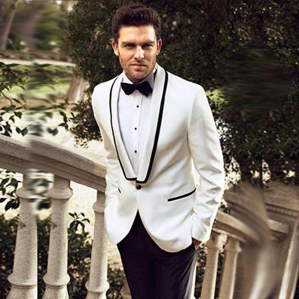Del padrino de boda de los hombres trajes de diseño esmoquin del novio Cena capa ocasional de la chaqueta del juego de pantalones de dos piezas de la chaqueta (chaqueta + pantalones)