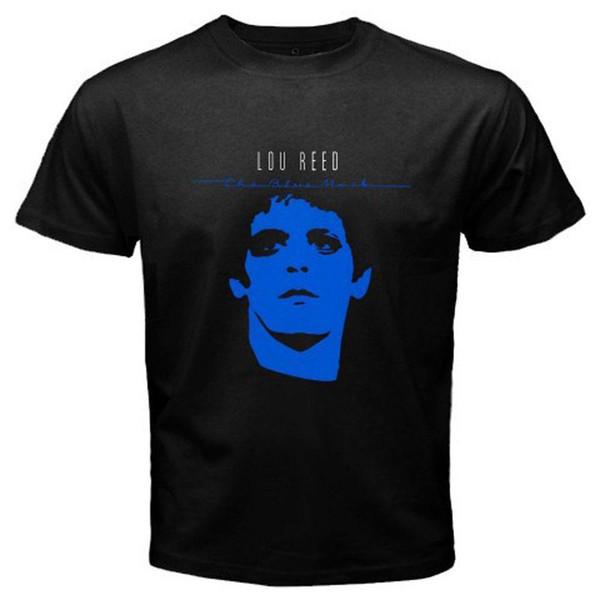 Lou Reed The Blue Mask Rock Music Icon T-shirt nera da uomo T-shirt S-3XL Summer Style T-shirt classica da uomo