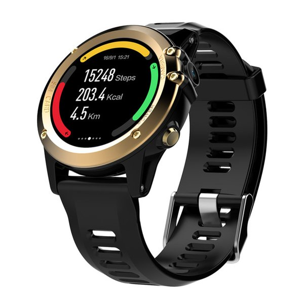 "H1 GPS Smart Watch BT 4.0 WIFI Smart Wristwatch IP68 Waterproof 1.39"" OLED MTK6572 3G LTE SIM Wearable Devices Watch For iPhone Android iOS"