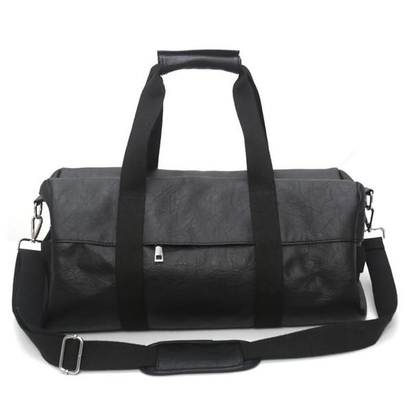 Deri spor çantası haftasonu çanta çanta erkeklere büyük seyahat spor çantası su geçirmez spor spor valiz ve çanta seyahat