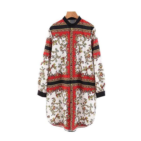 Frauen Blumendruck Mini Shirt Kleid Langarm O Neck Kleid weibliche elegante Weihnachten Femme Chic Vestidos