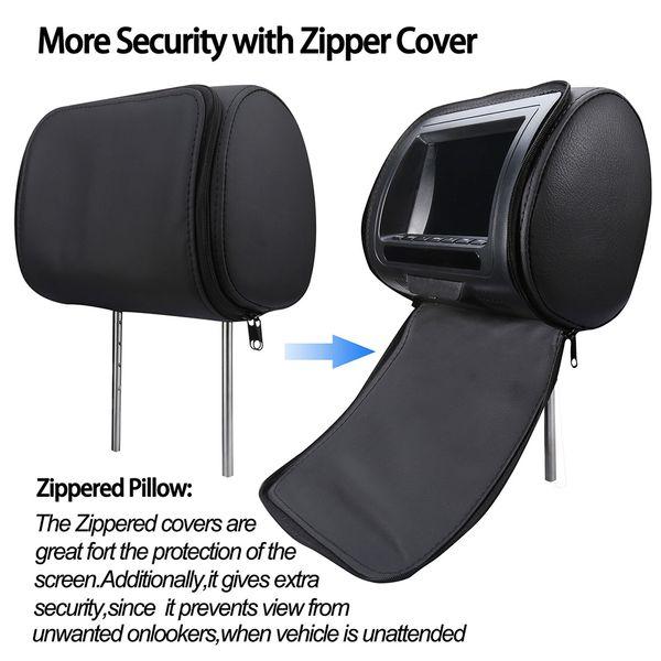 Динамик 7-дюймовый многофункциональный Регулируемое видео USB Infrared игры LCD экран HD Zipper крышка монитора подголовник автомобиля DVD-плеер