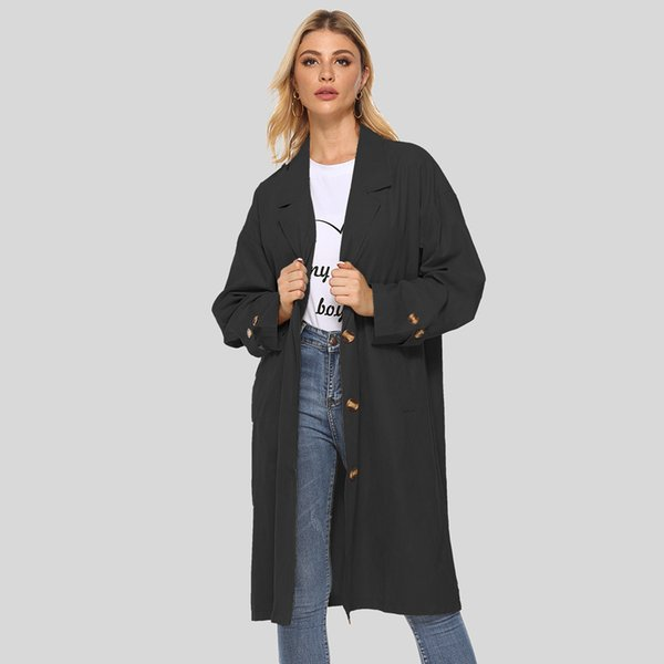 Designer Damen Mantel Marken-Jacke beiläufige Art und Weise Lange Zieher mit Tailored Kragen Temperament und beiläufigen Art-Größe M-2XL Großhandel