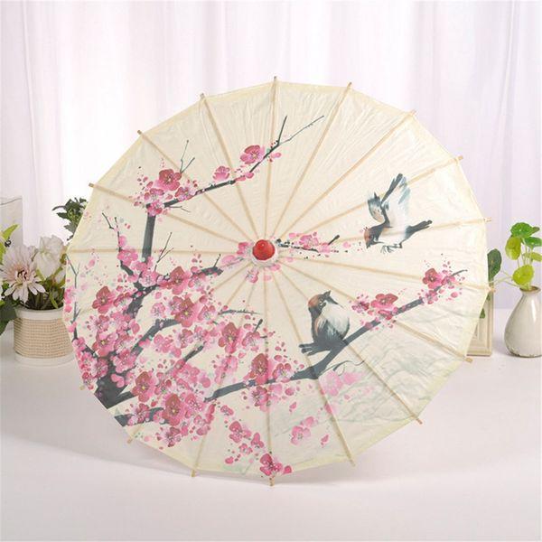 Искусство Зонт китайского шелка ткань зонтика Классический Стиль Декоративная вощанка Окрашенные Зонтик