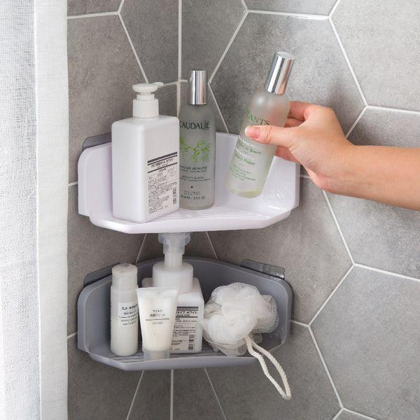 Scaffale ad angolo Scaffale da bagno Bagno Scaffale da bagno potente a parete senza forature