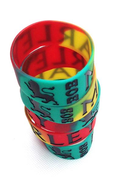 Hot Cartoon Bob Marley Logo Silikonkautschuk Armband Armband für Kinder / Mädchen Geschenk