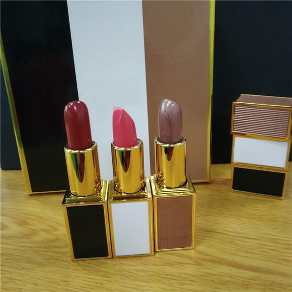 2018 New Famous Marque Tom Cosmetics Rouge À Lèvres 3 Couleurs Rouge À Lèvres Ensemble Noir Blanc Noir 3 Pcs Rouge À Lèvres Maquillage