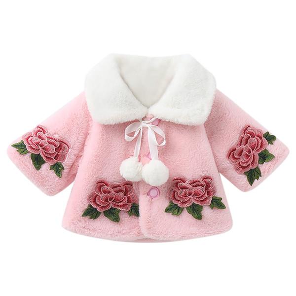 Baby girl coat baby winter coat children winter long-sleeved fleece warm shawl cloak coat baby girl clothes