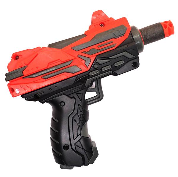 LNL Mini Pull Hand Toy Soft Bullets Gun for Kids Great Gift Girl & boys Red