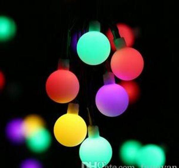 Schwarze Linie Birnenschnur 10M 100 LED Ball-Lichterkette angetriebene Patio-Licht-Weihnachtslicht-Ausgangsbeleuchtung Garten-Rasen-Abend-Zugang