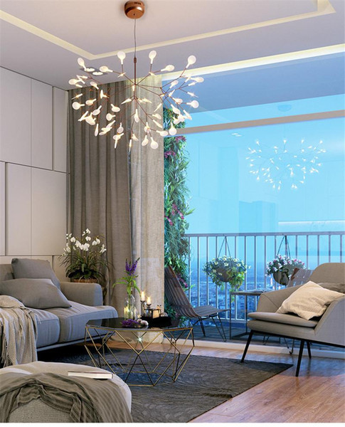Simple Design Modern LED Pendant Lights Luminaria Suspension Lamps Hanging Lamps 4 LED bulb Home Lighting Fixtures Fire