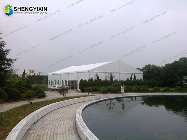 Frame big tents for events, cheap party tents for sale Customizable Facilitate Loading And Unloading Aluminum Frame Logistics storage tent