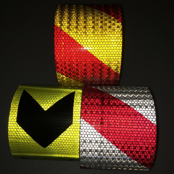 best selling 10CM*1M Fluorescent Road Traffic Reflective Sticker Automobile Car Motorcycle Decoration Self-adhesive Reflective Warning Tape