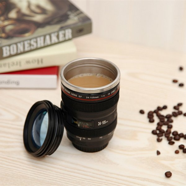 Tazza di caffè portatile all'aperto della tazza di acqua cilindrica dell'acciaio inossidabile di colori 2 della tazza 400ML 5 pezzi DHL