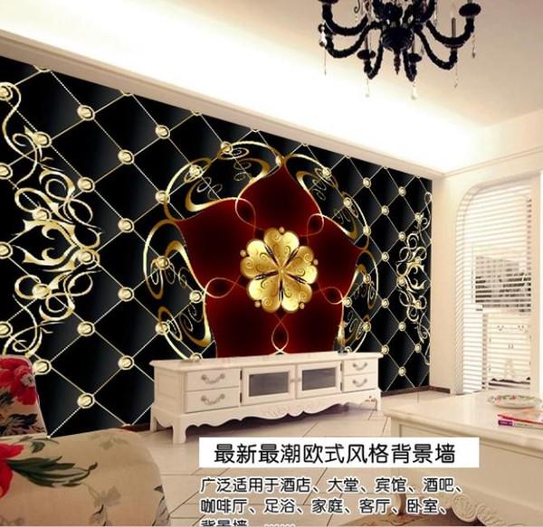 Custom 3D Mural Wallpaper Creative Extended Glory Wall Painting silk Wallpaper
