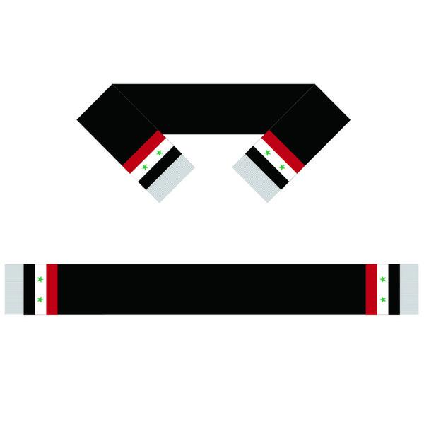 Siria Sciarpa Banner 15 * 150CM 100% poliestere, sciarpa della bandiera mondiale