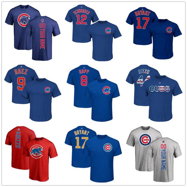 hot sales 55e1e d6f76 2018 Custom Men'S Youth Women Baseball Cubs T Shirt 2018 Anthony Rizzo Kris  Bryant Yu Darvish Javier Baez Ryne Sandberg Kyle Schwarber Tee From ...