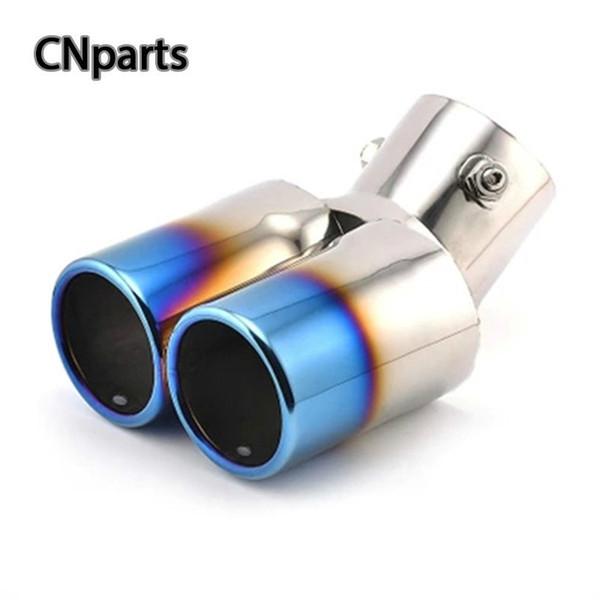 1pcs Per Versa Fit fuoco SX4 Cruze Aveo Doppia CURVA scarico dallo scarico del silenziatore del tubo Fine Trim