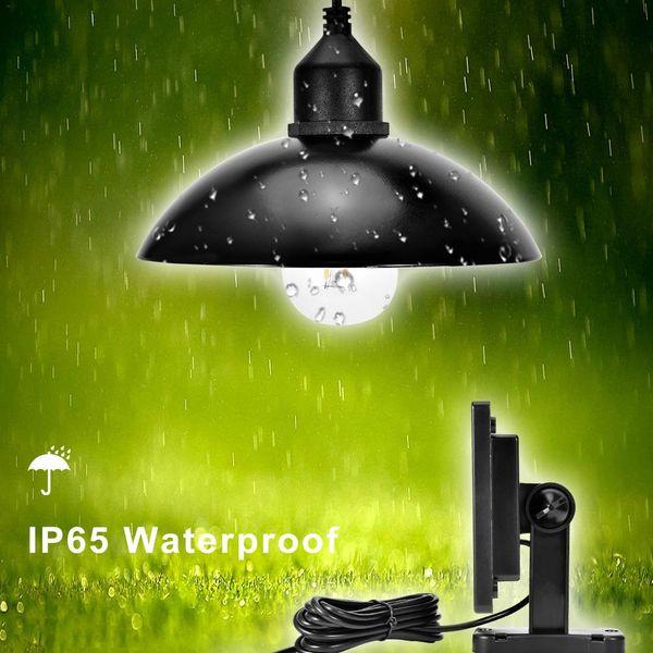 Retro Güneş Enerjisi Led Kolye Işık Açık Avlu Bahçe Koridor Su Geçirmez Led Sokak Lambaları Güneş Avize