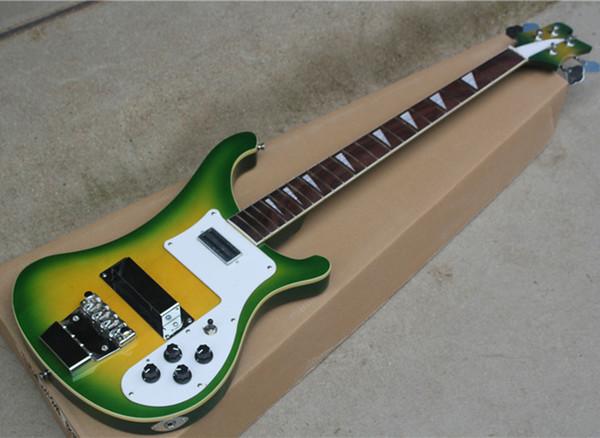 DIY grün halbfertige E-Bass mit Hardware, Griffbrett Palisander, Weiß-Bindung, kann als Anforderung angepasst werden