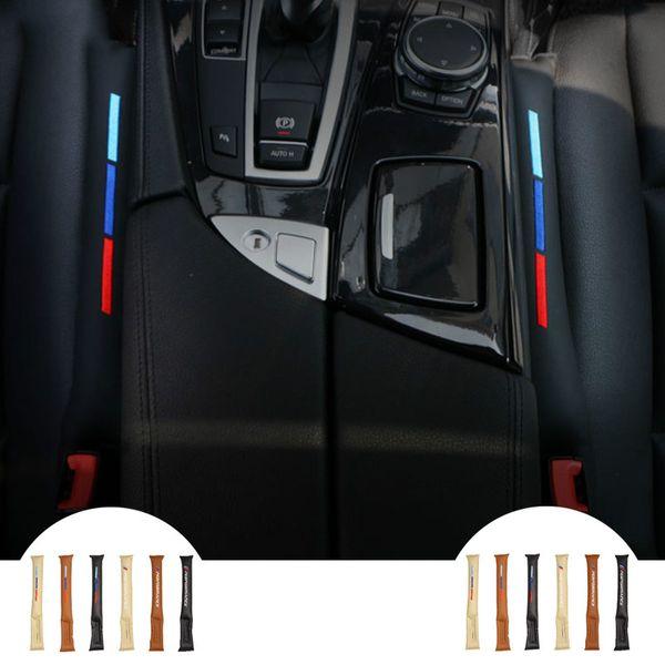 Todos os veículos em geral useFaux Almofadinhas de Gap Almofada Do Assento de Carro de Couro Spacer Storage Slot Plug para BMW E46 E39 E60 acessórios do carro