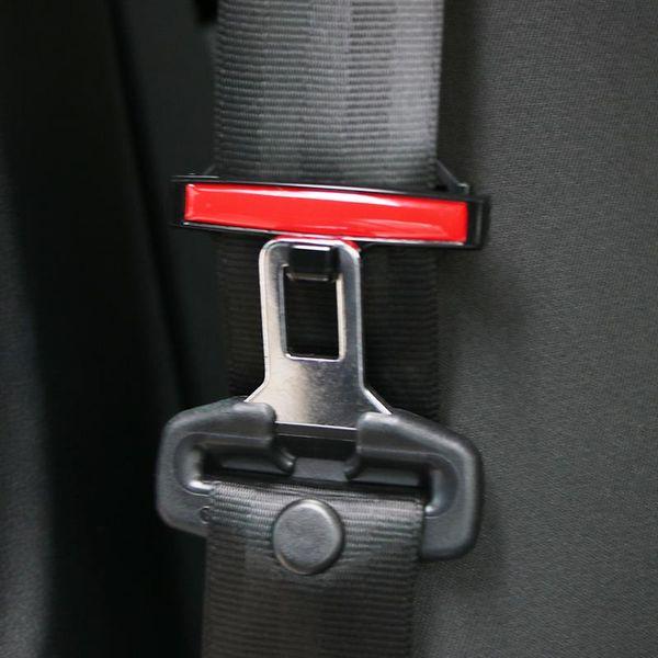 Una vez 2 pcs Clips de cinturón de seguridad del coche fijados Ajustable Universal antideslizante Asiento Hebilla Simple Sujetador fuerte Clip de fijación