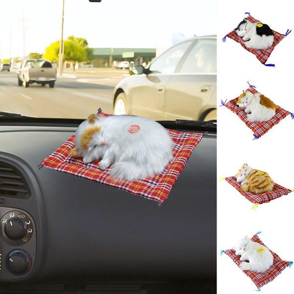 Sono bonito Simulação Cats Decoração Automobiles Adorável Plush Doll Car Ornamentos